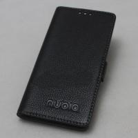 Кожаный чехол горизонтальная книжка подставка с крепежной застежкой для ZTE Nubia Z11 Max  Черный