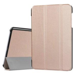 Сегментарный чехол книжка подставка на непрозрачной поликарбонатной основе для Asus ZenPad 3S 10 LTE Бежевый