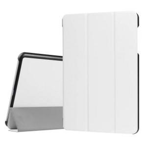 Сегментарный чехол книжка подставка на непрозрачной поликарбонатной основе для Asus ZenPad 3S 10 LTE Белый