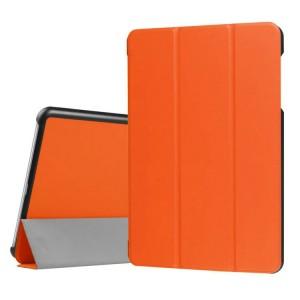 Сегментарный чехол книжка подставка на непрозрачной поликарбонатной основе для Asus ZenPad 3S 10 LTE Оранжевый