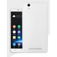 Силиконовый матовый полупрозрачный чехол для Highscreen Prime L  Белый