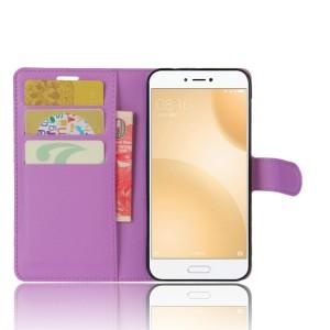 Чехол портмоне подставка на силиконовой основе с отсеком для карт на магнитной защелке для Xiaomi Mi5C