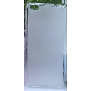 Силиконовый матовый полупрозрачный чехол с нескользящим софт-тач покрытием для Xiaomi Mi5C  Белый