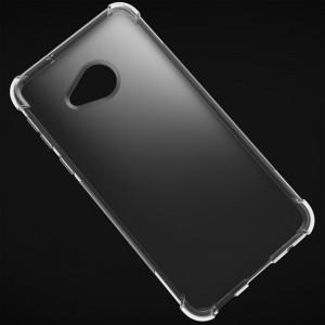 Силиконовый матовый полупрозрачный чехол с усиленными углами для HTC U Play
