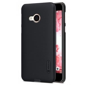Пластиковый непрозрачный матовый нескользящий премиум чехол для HTC U Play