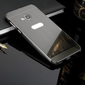 Двухкомпонентный чехол c металлическим бампером с поликарбонатной накладкой и зеркальным покрытием для HTC U Play