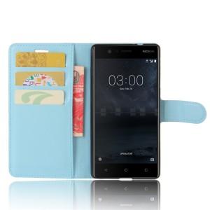 Чехол портмоне подставка на силиконовой основе с отсеком для карт на магнитной защелке для Nokia 3