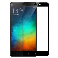 Полноэкранное ультратонкое износоустойчивое сколостойкое олеофобное защитное стекло-пленка для Xiaomi Mi Note  Черный