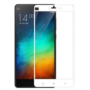 Полноэкранное ультратонкое износоустойчивое сколостойкое олеофобное защитное стекло-пленка для Xiaomi Mi Note Белый