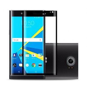 Полноэкранное ультратонкое износоустойчивое сколостойкое олеофобное защитное стекло-пленка для Blackberry Priv Черный