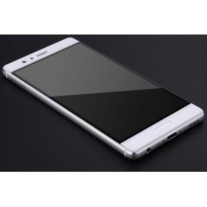 Полноэкранное ультратонкое износоустойчивое сколостойкое олеофобное защитное стекло-пленка для Huawei P9 Plus Белый