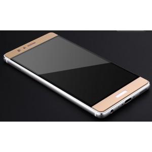 Полноэкранное ультратонкое износоустойчивое сколостойкое олеофобное защитное стекло-пленка для Huawei P9 Plus Бежевый