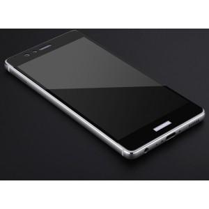 Полноэкранное ультратонкое износоустойчивое сколостойкое олеофобное защитное стекло-пленка для Huawei P9 Plus Черный