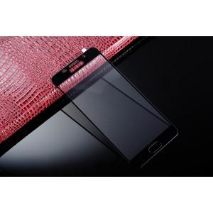 Полноэкранное ультратонкое износоустойчивое сколостойкое олеофобное защитное стекло-пленка для Samsung Galaxy A7 (2016) Черный