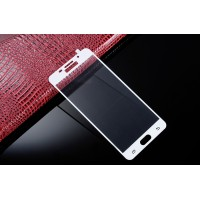 Полноэкранное ультратонкое износоустойчивое сколостойкое олеофобное защитное стекло-пленка для Samsung Galaxy A7 (2016) Белый