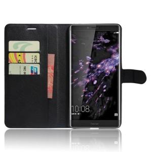 Чехол портмоне подставка на силиконовой основе с отсеком для карт на магнитной защелке для Huawei Honor Note 8