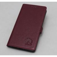 Кожаный чехол горизонтальная книжка подставка с крепежной застежкой для Huawei Honor Note 8