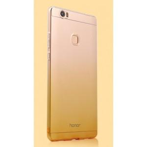 Силиконовый глянцевый полупрозрачный градиентный чехол для Huawei Honor Note 8