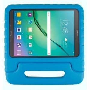 Ударостойкий детский силиконовый матовый гиппоаллергенный непрозрачный чехол с встроенной ножкой-подставкой для Samsung Galaxy Tab S3