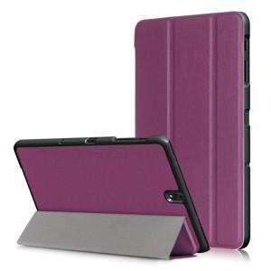 Сегментарный чехол книжка подставка на непрозрачной поликарбонатной основе для Samsung Galaxy Tab S3  Фиолетовый