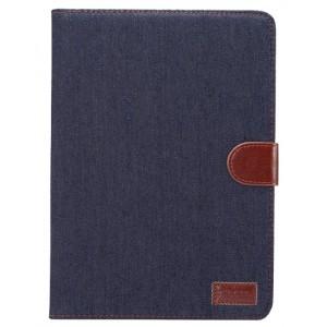 Чехол книжка подставка на непрозрачной поликарбонатной основе с тканевым покрытием, магнитной защелкой и отсеком для карт для Samsung Galaxy Tab S3