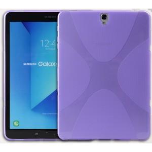 Силиконовый матовый полупрозрачный чехол с нескользящими гранями и дизайнерской текстурой X для Samsung Galaxy Tab S3