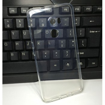 Силиконовый глянцевый транспарентный чехол для HTC One X10