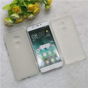 Силиконовый матовый полупрозрачный чехол для HTC One X10  Белый