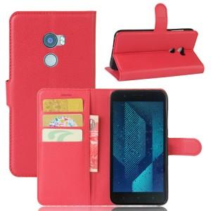 Чехол портмоне подставка на силиконовой основе с отсеком для карт на магнитной защелке для HTC One X10