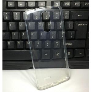Силиконовый глянцевый транспарентный чехол для LG K8 (2017)