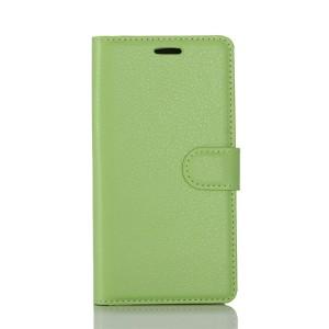 Чехол портмоне подставка на силиконовой основе с отсеком для карт на магнитной защелке для LG K8 (2017)  Зеленый