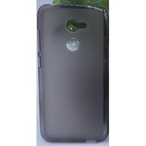 Силиконовый матовый полупрозрачный чехол для Alcatel A3  Черный