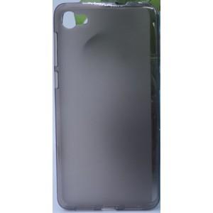 Силиконовый матовый полупрозрачный чехол для Alcatel A5 LED  Черный