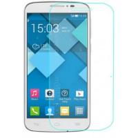 Ультратонкое износоустойчивое сколостойкое олеофобное защитное стекло-пленка для Alcatel One Touch Pixi 4 (3.5)