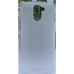 Силиконовый матовый полупрозрачный чехол для BQ Aquaris U Белый