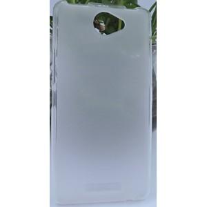 Силиконовый матовый полупрозрачный чехол для BQ Aquaris U Lite Белый