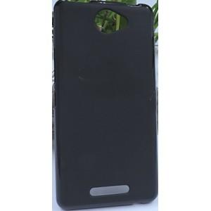 Силиконовый матовый полупрозрачный чехол для BQ Aquaris U Lite Черный