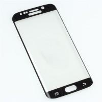Полноэкранное ультратонкое износоустойчивое сколостойкое олеофобное защитное стекло-пленка для Samsung Galaxy S6 Edge  Черный