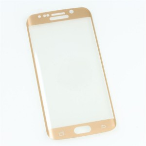 Полноэкранное ультратонкое износоустойчивое сколостойкое олеофобное защитное стекло-пленка для Samsung Galaxy S6 Edge Бежевый