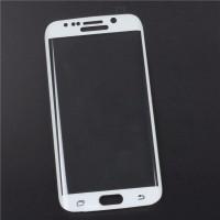 Полноэкранное ультратонкое износоустойчивое сколостойкое олеофобное защитное стекло-пленка для Samsung Galaxy S6 Edge  Белый