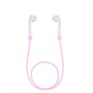 Ультралегкий экстрапрочный силиконовый кабель-держатель для Airpods Розовый