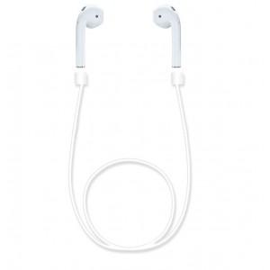 Ультралегкий экстрапрочный силиконовый кабель-держатель для Airpods Белый