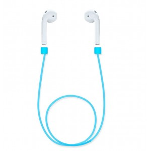 Ультралегкий экстрапрочный силиконовый кабель-держатель для Airpods Синий