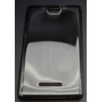 Силиконовый глянцевый полупрозрачный чехол для Acer Iconia Talk S A1-734 Черный