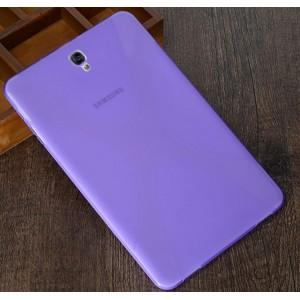 Силиконовый матовый полупрозрачный чехол с дизайнерской текстурой X для Samsung Galaxy Tab S3  Фиолетовый