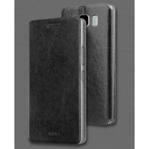 Чехол горизонтальная книжка подставка на силиконовой основе для Samsung Galaxy S8