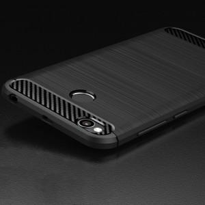 Силиконовый матовый непрозрачный чехол с нескользящими гранями и нескользящим софт-тач покрытием для Xiaomi RedMi 4X