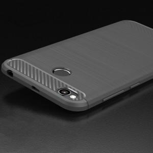 Силиконовый матовый непрозрачный чехол с нескользящими гранями и нескользящим софт-тач покрытием для Xiaomi RedMi 4X  Серый