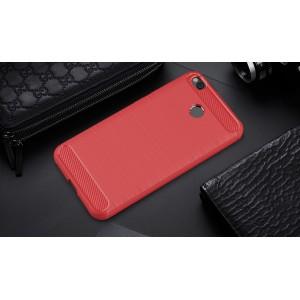 Силиконовый матовый непрозрачный чехол с нескользящими гранями и нескользящим софт-тач покрытием для Xiaomi RedMi 4X  Красный