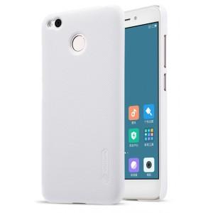 Пластиковый непрозрачный матовый нескользящий премиум чехол с повышенной шероховатостью для Xiaomi RedMi 4X  Белый